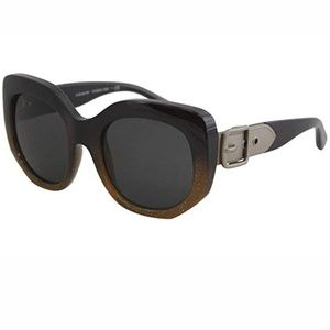 Coach Sunglasses Black Glitter with Buckle on Arms